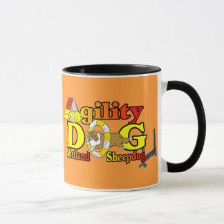 Mug Cadeaux de chien de berger de Shetland d'agilité