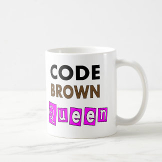 """Mug Cadeaux drôles de """"REINE de BROWN de CODE"""""""
