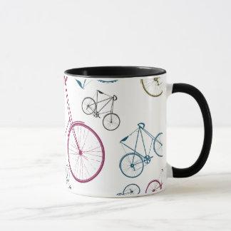 Mug Cadeaux vintages de motif de bicyclette pour des
