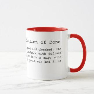 Mug Café agile - définition de fait