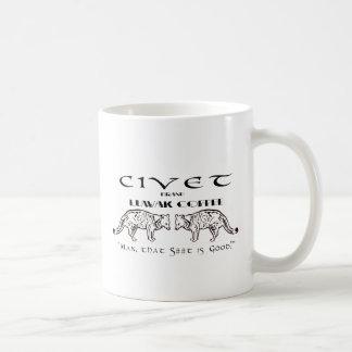 Mug Café de Luwak de marque de civette - équipez que