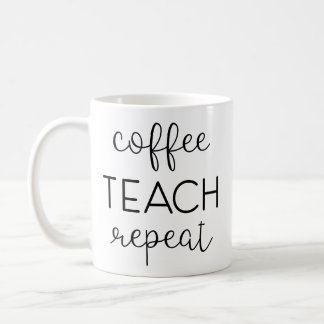 Mug Café. Enseignez. Répétez