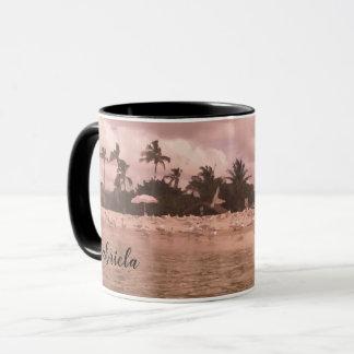 Mug Café personnalisé de peinture de scène de plage