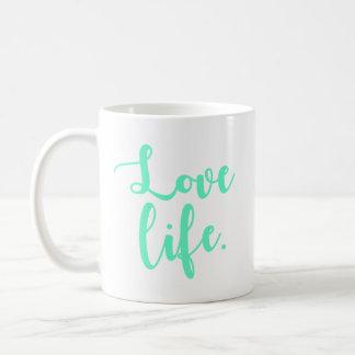 Mug Calligraphie de la vie d'amour