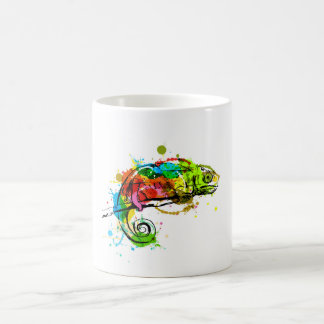 Mug Caméléon coloré de croquis de main