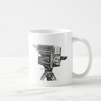 Mug caméra de télévision de studio d'émission des