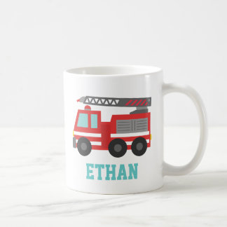 Mug Camion de pompiers rouge mignon pour de petits
