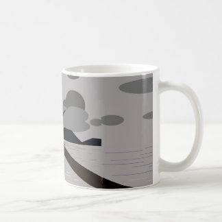 Mug Canette avec plage nuageuse