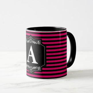 Mug Canette Combo 325 ml Bandes Pink Monogramme