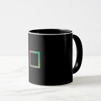 """Mug Canette la Géométrie Colorié «Square """""""