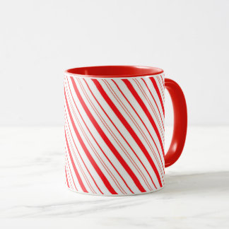 Mug Canne de Tasse-Sucrerie de Noël barrée