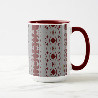Mug Canneberge abstraite et motif gris