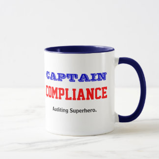 Mug Capitaine Compliance Auditing Superhero