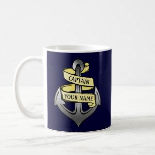 Mug Capitaine de bateau personnalisable votre Ancre