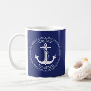 Mug Capitaine nautique Personalized d'Ancre