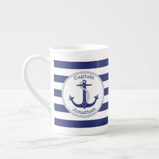 Mug Capitaine nautique Personalized de bleu marine