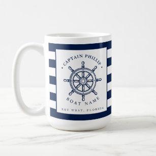 Mug Capitaine orienté nautique de voilier