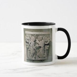 Mug Capital de colonne dépeignant le Christ et James