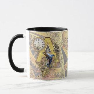 Mug capital-lettre A d'Alphabet-monogramme