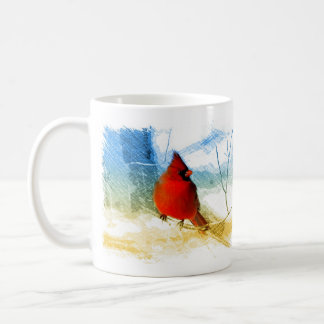 Mug Cardinal rouge de Noël primitif de pays occidental