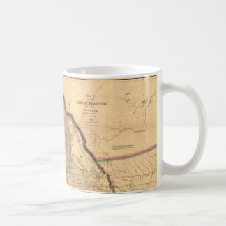 Mug Carte 1841 du nord-ouest Pacifique de l'Orégon de