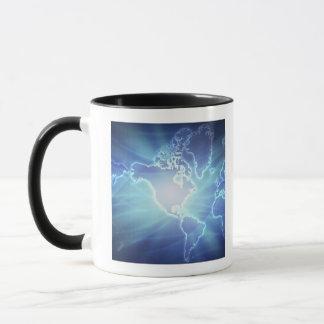 Mug Carte 6 du monde