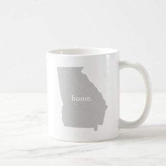 Mug Carte à la maison d'état de silhouette de la