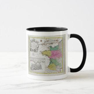 Mug Carte allemande montrant des attaques navales