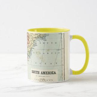 Mug Carte antique de l'Amérique du Sud
