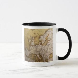 Mug Carte antique de l'Europe. Vieux monde