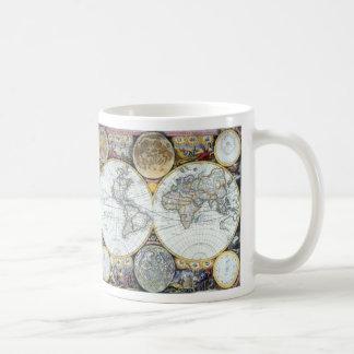 Mug Carte antique du monde, atlas Maritimus par le