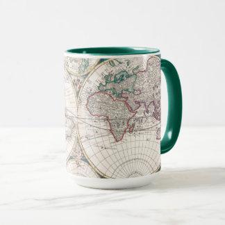 Mug Carte antique du monde de Double-Hémisphère