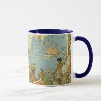 Mug Carte antique du monde de l'Empire Britannique,