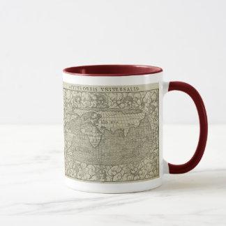 Mug Carte antique du monde par SebastiAn Münster circa