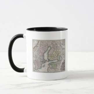 Mug Carte antique scandinave