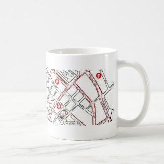 Mug Carte centrale de Manchester
