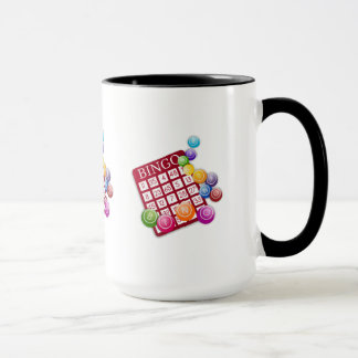 Mug Carte de BINGO-TEST avec des boules de BINGO-TEST
