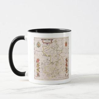 Mug Carte de Cambridgeshire, Amsterdam édité c.1647-