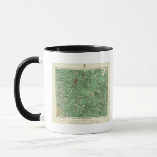 Mug Carte de classification de terre de la Californie