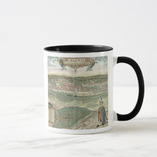 "Mug Carte de Cracovie, de ""Civitates Orbis Terrarum"""