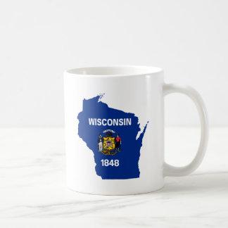 Mug Carte de drapeau du Wisconsin