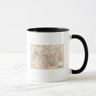 Mug Carte de Johnston Île de Rhode