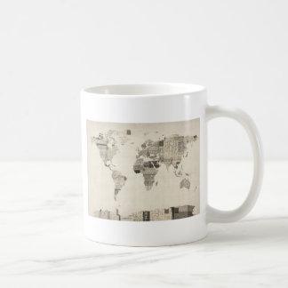 Mug Carte de la carte du monde de vieilles cartes
