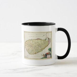 Mug Carte de la Ceylan selon Nicolas Visscher