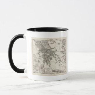 Mug Carte de la Grèce par Stieler