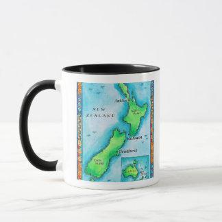 Mug Carte de la Nouvelle Zélande 2