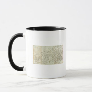 Mug Carte de la Pennsylvanie 2
