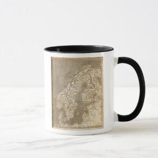 Mug Carte de la Suède, Norvège par Arrowsmith