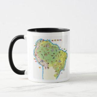Mug Carte de l'Amérique du Sud du nord
