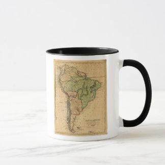 Mug Carte de l'Amérique du Sud par Worcester